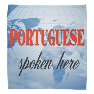Portuguese spoken here cloudy earth do-rag