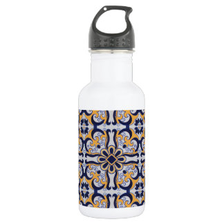 Portuguese tile pattern 532 ml water bottle