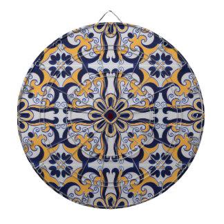 Portuguese tile pattern dartboard