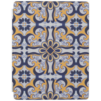 Portuguese tile pattern iPad cover