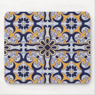 Portuguese tile pattern mouse mat