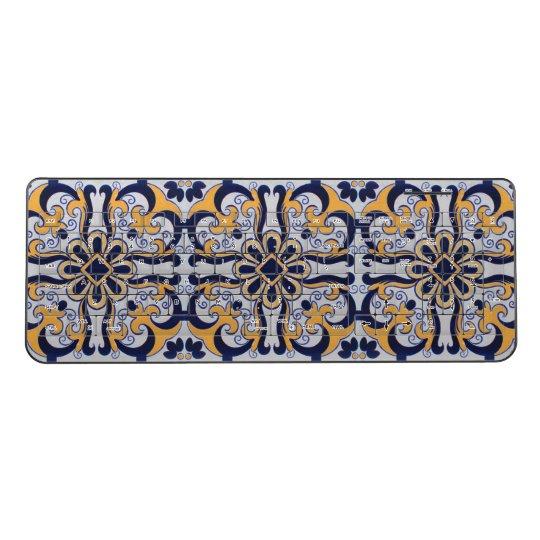 Portuguese tile pattern wireless keyboard