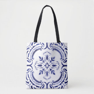 Portuguese tile unique design tote bag