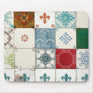 Portuguese tiles mouse mat
