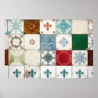 Portuguese tiles print