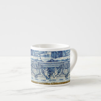 Portuguese tiles with angels from Porto Espresso Cup