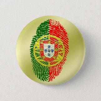 Portuguese touch fingerprint flag 6 cm round badge