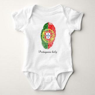 Portuguese touch fingerprint flag baby bodysuit