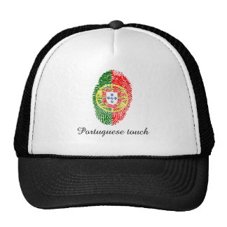 Portuguese touch fingerprint flag cap