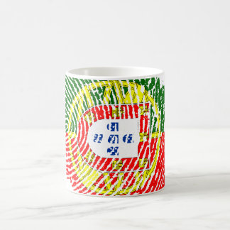 Portuguese touch fingerprint flag coffee mug