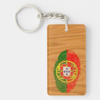 Portuguese touch fingerprint flag key ring