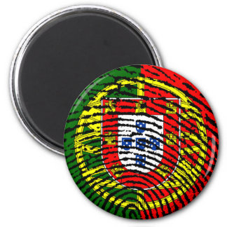 Portuguese touch fingerprint flag magnet
