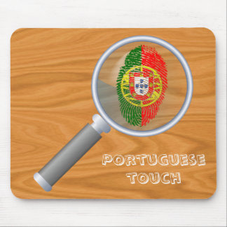 Portuguese touch fingerprint flag mouse mat