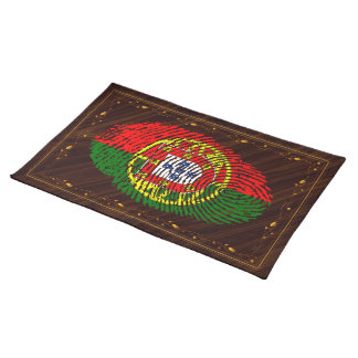 Portuguese touch fingerprint flag placemat