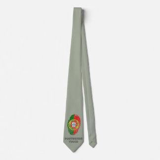 Portuguese touch fingerprint flag tie