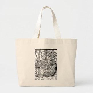 Portuguese Trading Ship Jumbo Tote Bag
