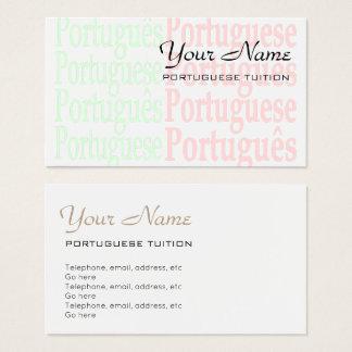 Portuguese Tutor Business Cards