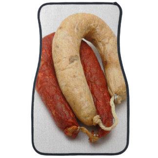 Portuguese typical sausages car mat