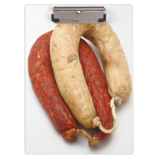 Portuguese typical sausages clipboards