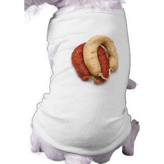Portuguese typical sausages sleeveless dog shirt
