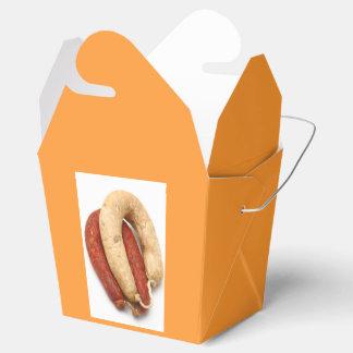 Portuguese typical sausages wedding favour box