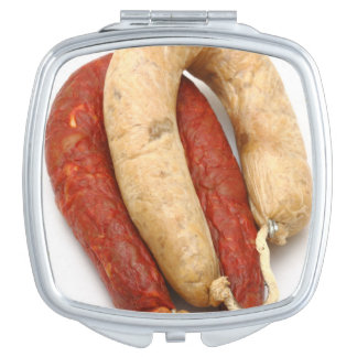 Portuguese typical sausages mirror for makeup
