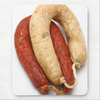 Portuguese typical sausages mouse pad