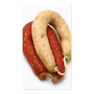 Portuguese typical sausages pack of standard business cards