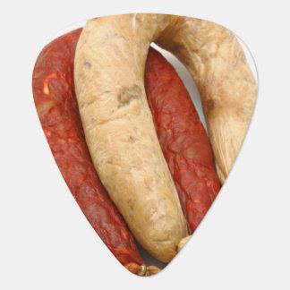 Portuguese typical sausages plectrum