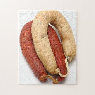 Portuguese typical sausages puzzle