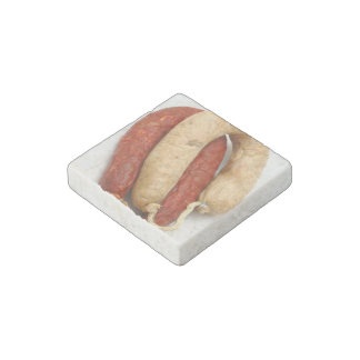 Portuguese typical sausages stone magnet
