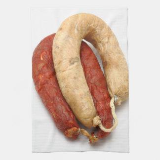 Portuguese typical sausages towel