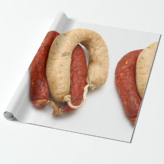 Portuguese typical sausages wrapping paper