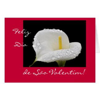 Portuguese: Valentine's Day / Dia de São Valentim Greeting Card