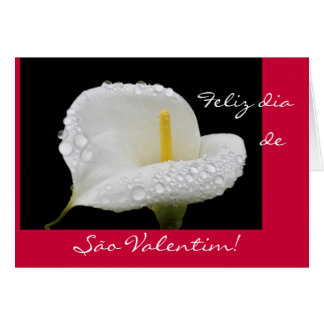 Portuguese: Valentine's Day / São Valentim Greeting Card