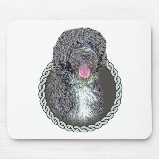 Portuguese water dog 001 mousepads
