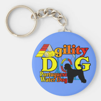 Portuguese Water Dog Agility Key Ring