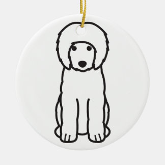 Portuguese Water Dog Cartoon Christmas Ornament