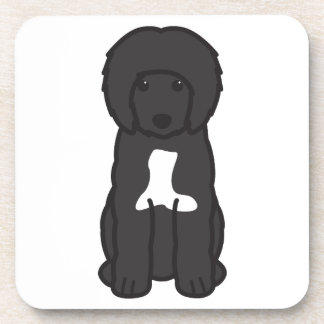 Portuguese Water Dog Cartoon Drink Coasters