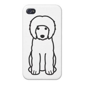 Portuguese Water Dog Cartoon Cover For iPhone 4