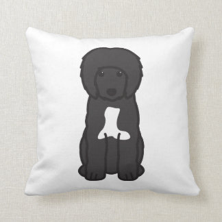 Portuguese Water Dog Cartoon Cushion