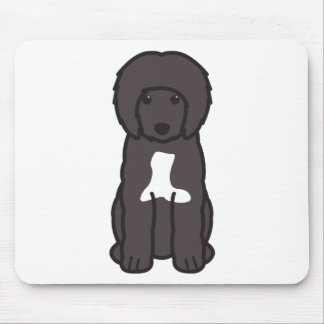Portuguese Water Dog Cartoon Mousepads