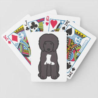 Portuguese Water Dog Cartoon Bicycle Card Decks