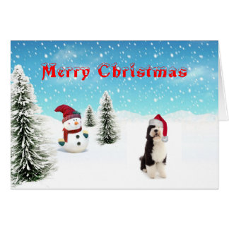 Portuguese Water Dog Christmas Card