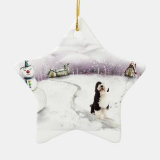 Portuguese Water Dog Christmas ornament
