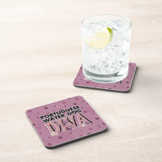 Portuguese Water Dog DIVA Drink Coasters