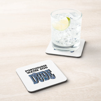 Portuguese Water Dog DUDE Drink Coaster