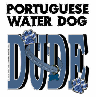 Portuguese Water Dog DUDE Standing Photo Sculpture
