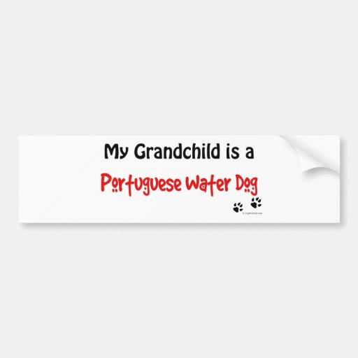 Portuguese Water Dog Grandchild Bumper Stickers