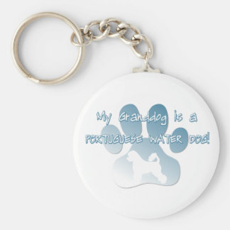 Portuguese Water Dog Granddog Key Ring